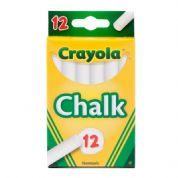Crayola Anti-dust Chalk 12 Pack White